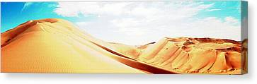 Sun In The Sands Canvas Print by Peter Waters