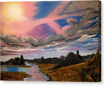 Sun Jet Canvas Print