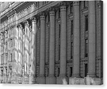 Heritage Montreal Canvas Print - Sun Life Building  Montreal, Quebec by David Chapman