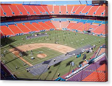Sun Life Stadium Canvas Print by Georgia Fowler