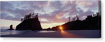 Sun Light Coming Through An Arch Canvas Print by Panoramic Images