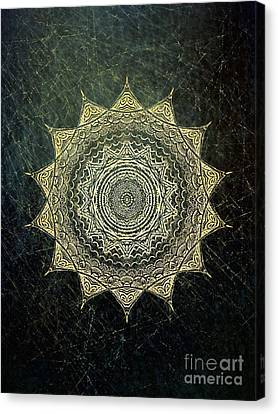 Sun Mandala - Background Variation Canvas Print