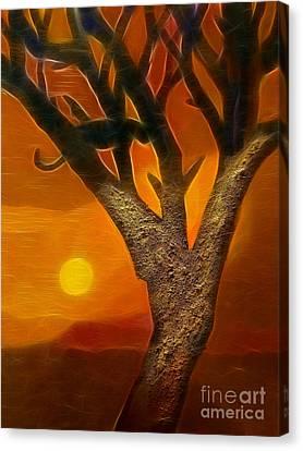 Sun Of Africa Canvas Print by Lutz Baar
