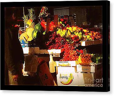 Canvas Print featuring the photograph Sun On Fruit by Miriam Danar