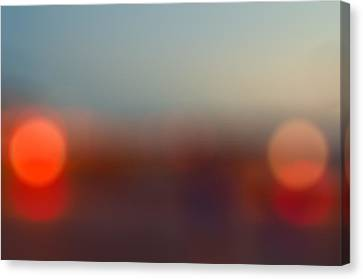 Sun On Horizon Canvas Print by J Riley Johnson