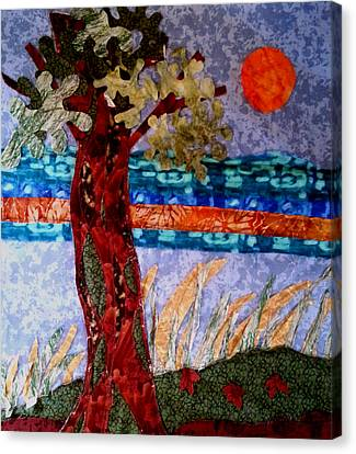Sun Over Arbutus Work In Progress Canvas Print by Nikki Dalton