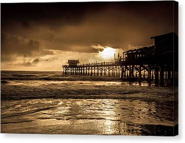 Sun Over The Pier Canvas Print