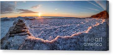 Sun Peaking Thru Canvas Print by Andrew Slater