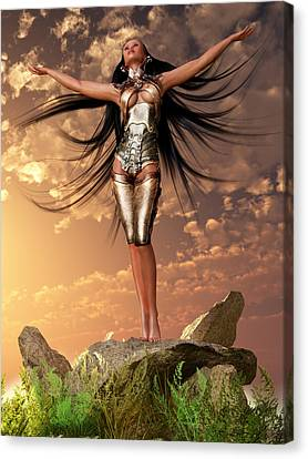 Sun Priestess 2 Canvas Print