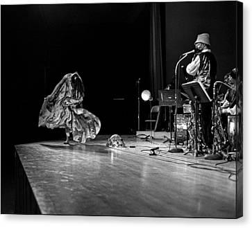 Uc Davis Canvas Print - Sun Ra Dancer And Marshall Allen by Lee  Santa
