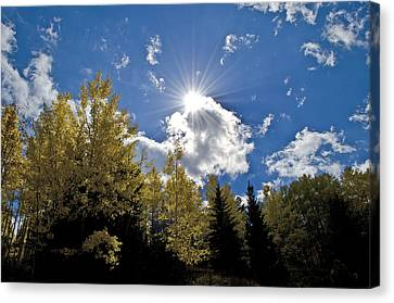 Sun Rays Across Colorado Mountain Canvas Print
