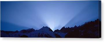 Sun Rays, Canton Glarus, Switzerland Canvas Print