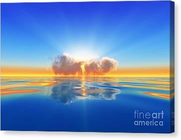 Sun Rays Canvas Print - Sun Rays In Cloud by Aleksey Tugolukov