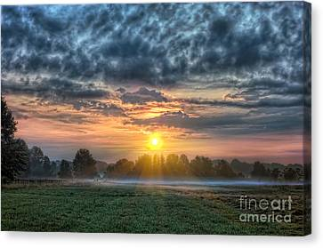 D700 Canvas Print - Sun Rays Vs Rain Clouds by Michael Ver Sprill