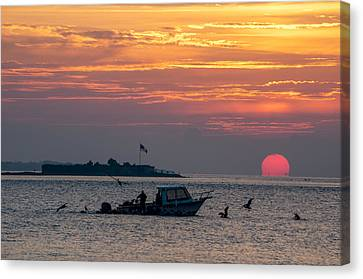 Sun Rise Over Fort Sumter Canvas Print