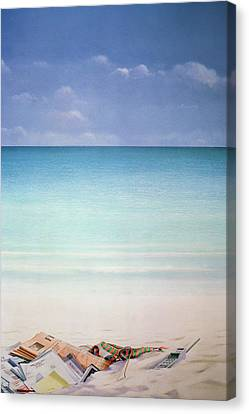 Sun, Sand And Money I Canvas Print by Lincoln Seligman