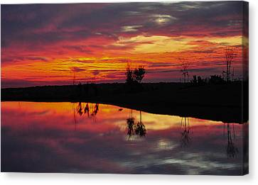 Sun Set At Cowen Creek Canvas Print by John Johnson