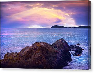 Sun Set Over St. Thomas Canvas Print by Camille Lopez