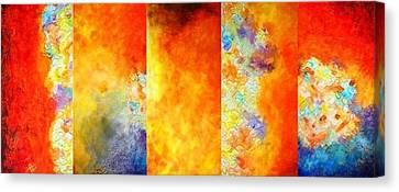 Sun Sets Canvas Print by Kiruba Sekaran