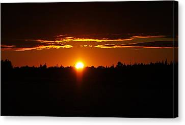 Sun Sets Over Huron Canvas Print by Al Fritz