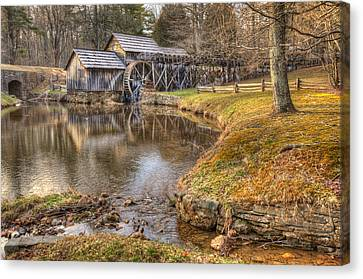 Old Mill Scenes Canvas Print - Sun Setting On Mabry Mill by Gregory Ballos