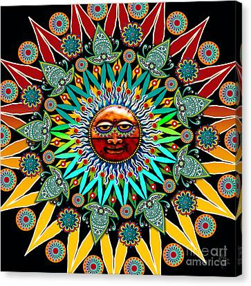 Sun Shaman Canvas Print by Christopher Beikmann