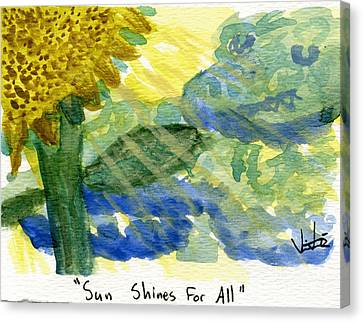 Sun Shines For All II Canvas Print
