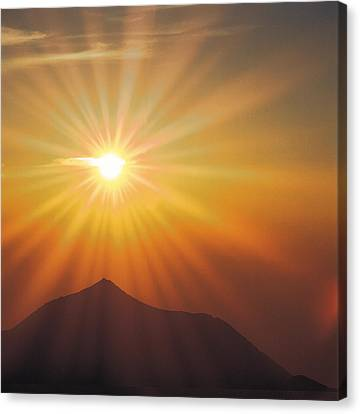 Computer Graphics Canvas Print - Sun Shinning Over The Mountain by Panoramic Images
