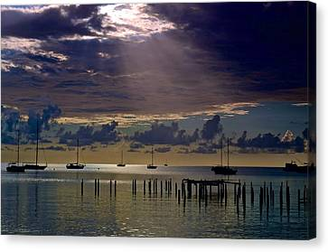 Canvas Print featuring the photograph Sun Sneaking In by Ricardo J Ruiz de Porras