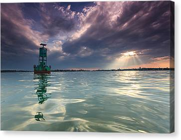 Canvas Print featuring the photograph Sun Spill Over Annapolis by Jennifer Casey