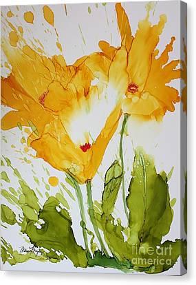 Sun Splashed Poppies Canvas Print