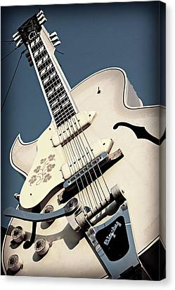 Memphis Recordings Canvas Print - Sun Studio Gibson Bigsby by Stephen Stookey