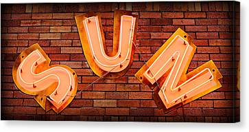 Sun Studio Neon Canvas Print by Stephen Stookey