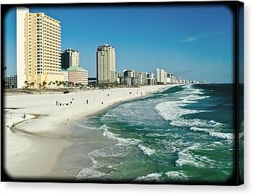 Sun Surf Sand And Condos Canvas Print