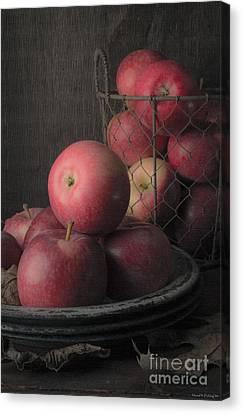 Sun Warmed Apples Still Life Canvas Print by Edward Fielding
