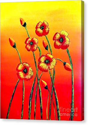 Sun Worshipers Canvas Print by Tim Townsend