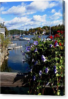 Boats In Water Canvas Print - Sunapee Harbor 1 by Will Boutin Photos