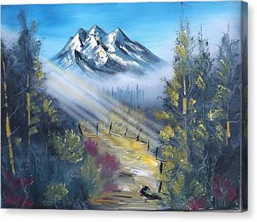 Sunbeam Path Canvas Print by Mark Brennan