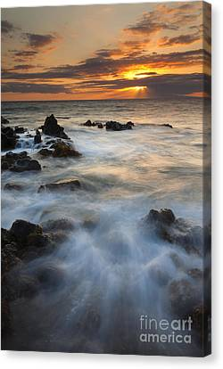 Crepuscular Rays Canvas Print - Sunbeams Over Lanai by Mike Dawson