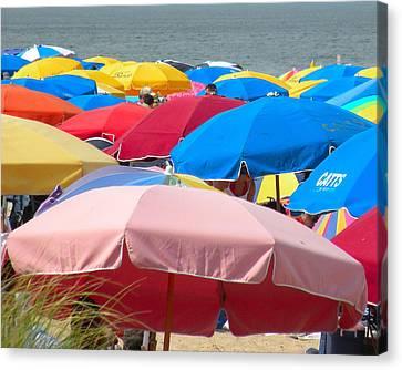 Sunbrellas Canvas Print by Kim Bemis