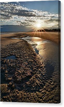 Sunburst At Folly Beach Canvas Print by Kate Silvia