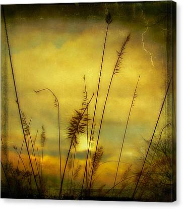 Aged Brilliant Dusk Sunburst Canvas Print