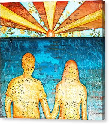 Couple Canvas Print - Sunburst In Love by Danny Phillips