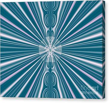 Canvas Print featuring the digital art Sunburst In The Rain by Luther Fine Art