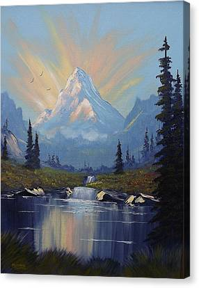 Sunburst Landscape Canvas Print by Richard Faulkner