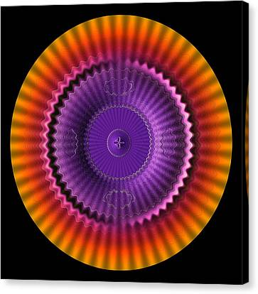Sunburst Wheel  Canvas Print by Visual Artist  Frank Bonilla