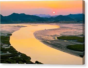 Suncheon Bay Sunset Canvas Print