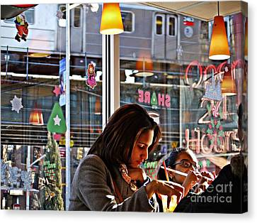 Sunday Afternoon At Dunkin Donuts 11 Canvas Print by Sarah Loft