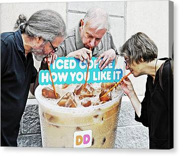 Sunday Afternoon At Dunkin Donuts 12 Canvas Print by Sarah Loft