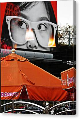 Sunday Afternoon At Dunkin Donuts 13 Canvas Print by Sarah Loft